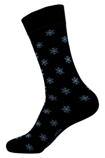 Schnee Socken blau Bambus