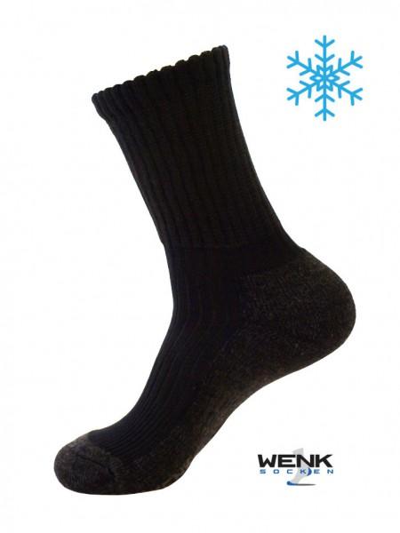 Bambus Socken Winter schwarz